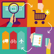 Vector internet shopping infographics