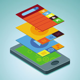 Vector mobile phone  - infographic elements
