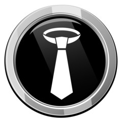 Necktie - Vector black icon isolated