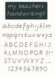 Handwriting alphabet