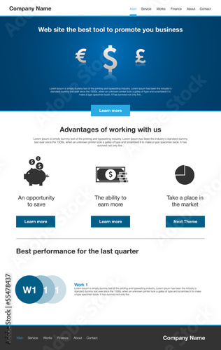 Finance Company Site Template