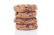 cookies gestapelt isoliert