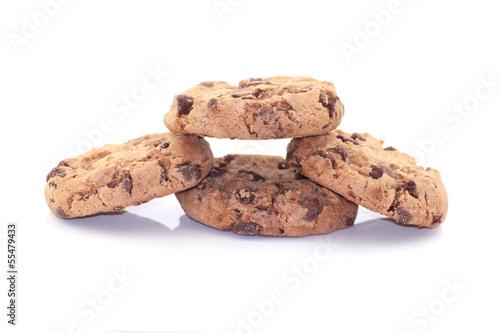 4 cookies isoliert