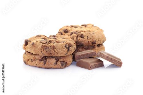 4 cookies und schokolade