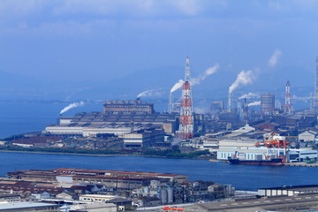 八幡の工場地帯