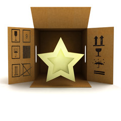 golden holiday star product delivery