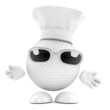 Golfball working at his restaurant