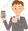 ビジネスマン モバイル