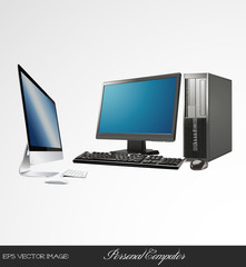 eps Vector image:personal computer