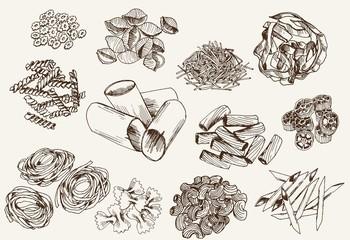 Some types of pasta