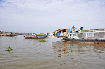 Floating Market at Mekong delta, Chau Doc (Vietnam)