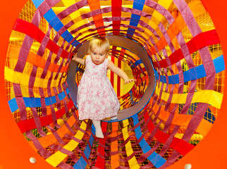 Child in a maze playground