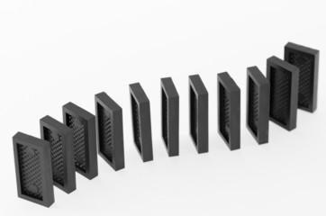Кости домино стоящие в ряд