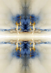 Abstract mirror image background