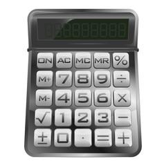 isolated new modern mathematical calculator vector