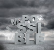 letters impossible concept