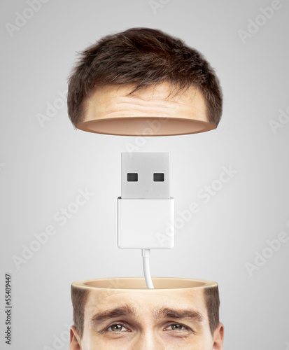 half head and usb