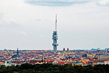 Zizkov TV transmitter in Prague