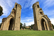 The historic ruins of Glastonbury Abbey in Somerset - 55490079