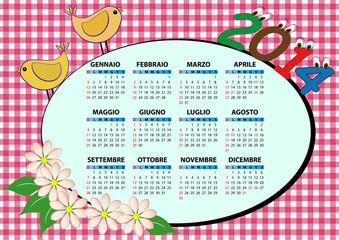 2014 bird calendar
