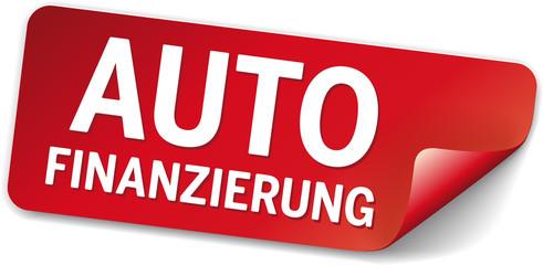 rotes Label autofinanzierung