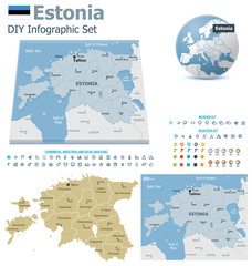 Estonia maps with markers
