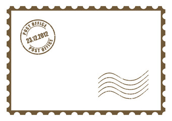 Vector blank post card, add your own image