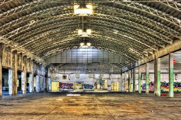 Interior of a derelict warehouse
