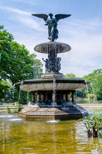 Bethesda Fountain in Central Park, New York