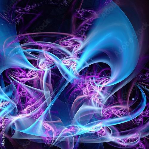 Keuken foto achterwand Fractal waves Colorful fractal background