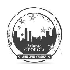 timbre Atlanta, capitale de la Georgie