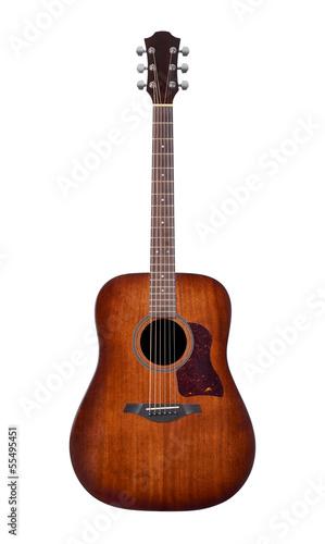 Leinwanddruck Bild acoustic guitar on white background