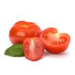 Tomato and basil leaf