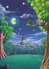 bosque nocturno