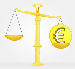 weight measure of euro money value vector