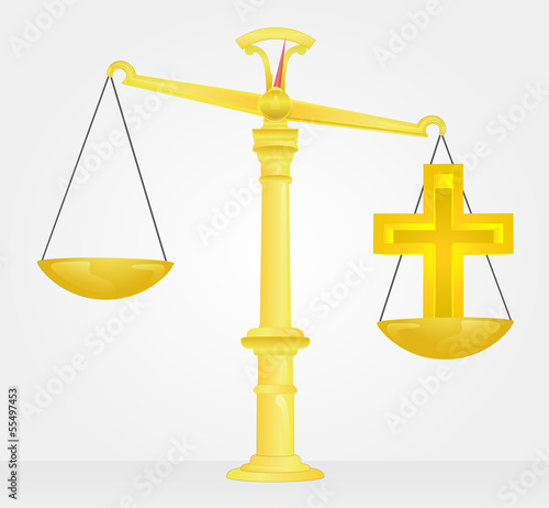 weight measure of christian religion values vector