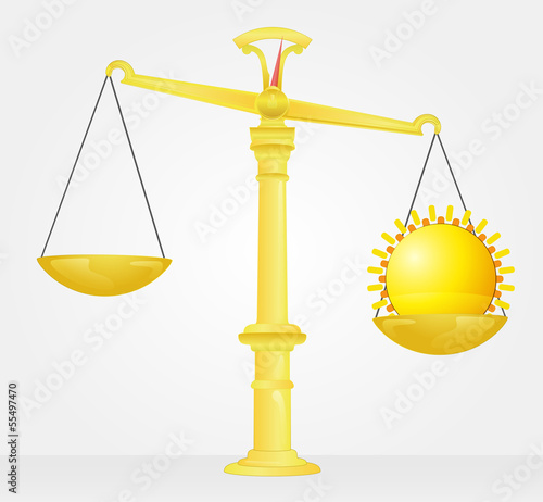 weight measure of sun shine strenght vector