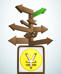signpost navigation to better asian business vector