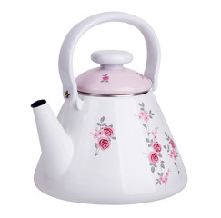 Enameled kettle for boiling water