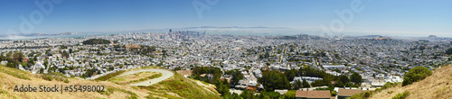San Francisco panorama, from Twin Peaks, California