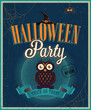 Halloween Party Poster. Vector illustratoin.