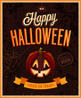 Happy Halloween Poster. Vector illustratoin.