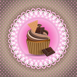 cup cake Invitation card