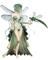 Green Dragonfly Fairy