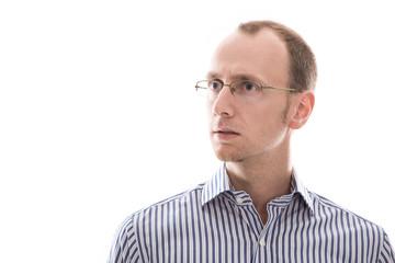 Verständnisloser Mann - Gesicht isoliert - Geschäftsmann