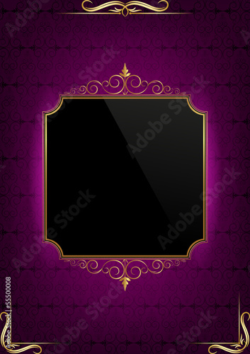 Purple abstract background and text box
