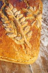 Wiejski chleb z kłosem
