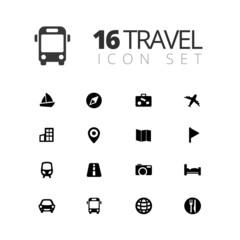 16 Travel Icons Set