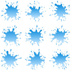 Set of water blots and splash-sparks for your design; EPS8
