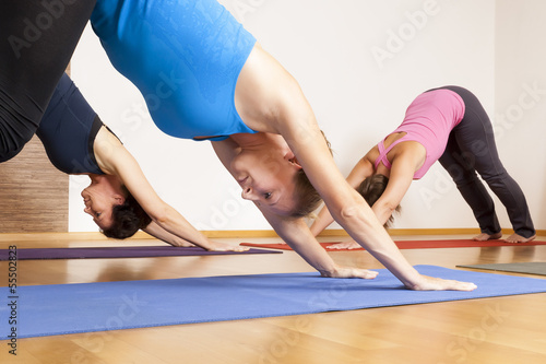 Deurstickers Gymnastiek Yoga Exercise